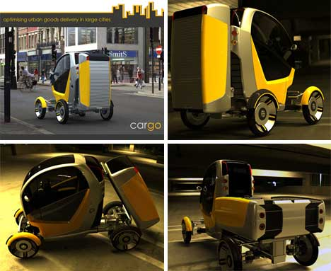 the CarGo Pod can be removed, making the vehicle into an ideal commuter car http://gajitz.com/rule-of-thirds-three-faced-urban-delivery-vehicle-concept/